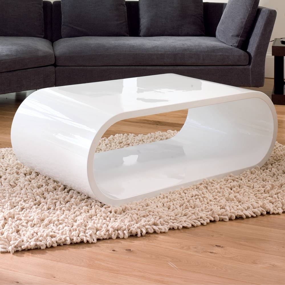 White High Gloss Round Coffee Table - Starrkingschool for Round High Gloss Coffee Tables (Image 25 of 30)