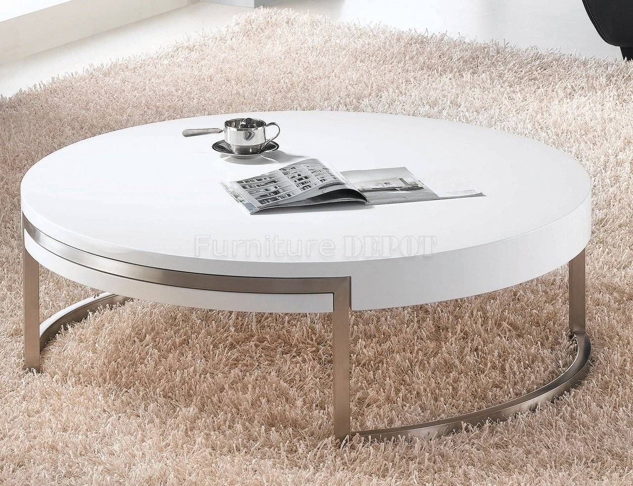 White High Gloss Round Coffee Table - Starrkingschool intended for Round High Gloss Coffee Tables (Image 28 of 30)