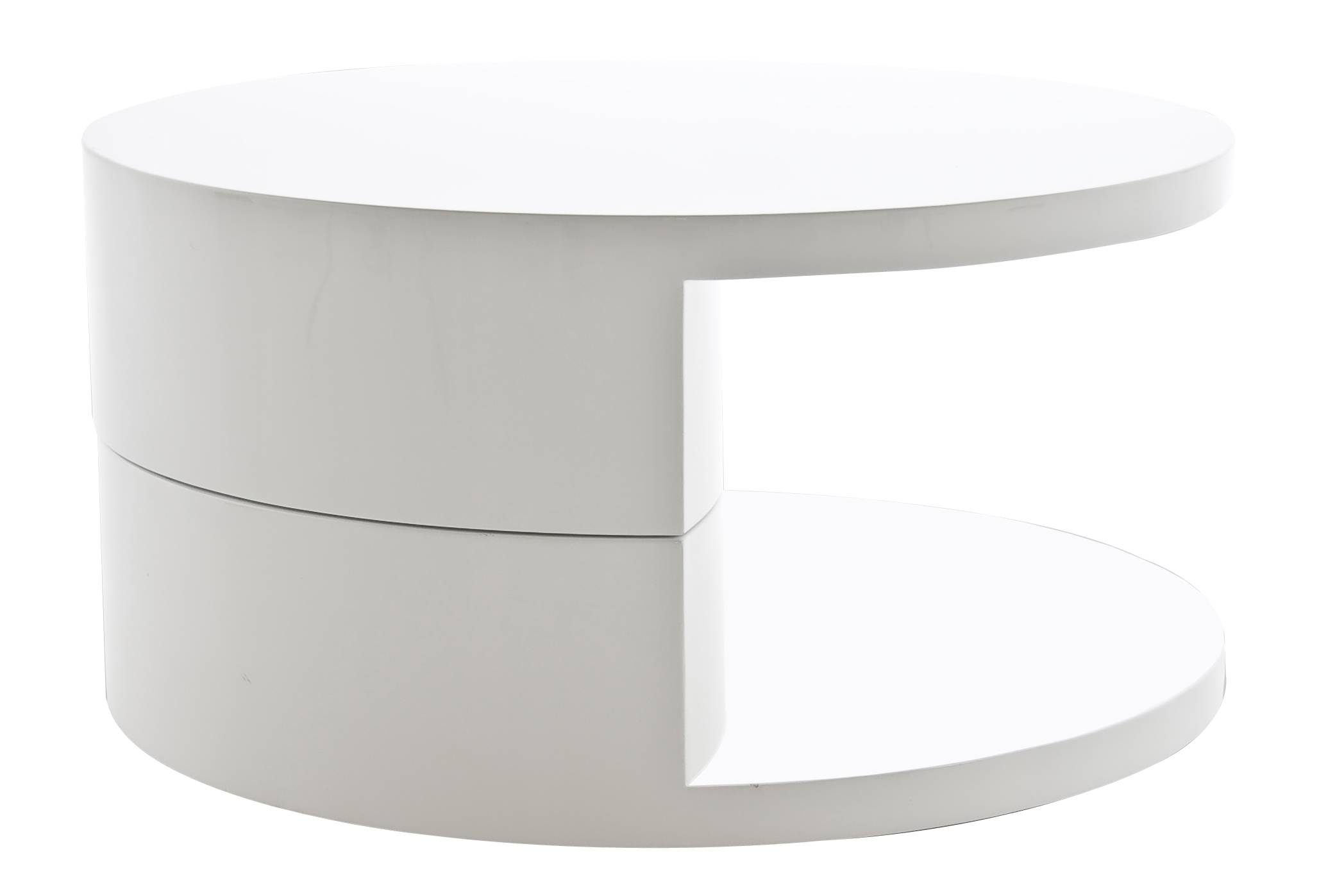 White High Gloss Round Coffee Table - Starrkingschool with Round High Gloss Coffee Tables (Image 29 of 30)