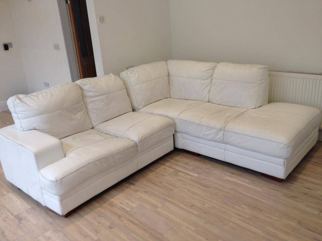 White Leather Corner Sofa | In Sunderland, Tyne And Wear | Gumtree within White Leather Corner Sofa (Image 28 of 30)