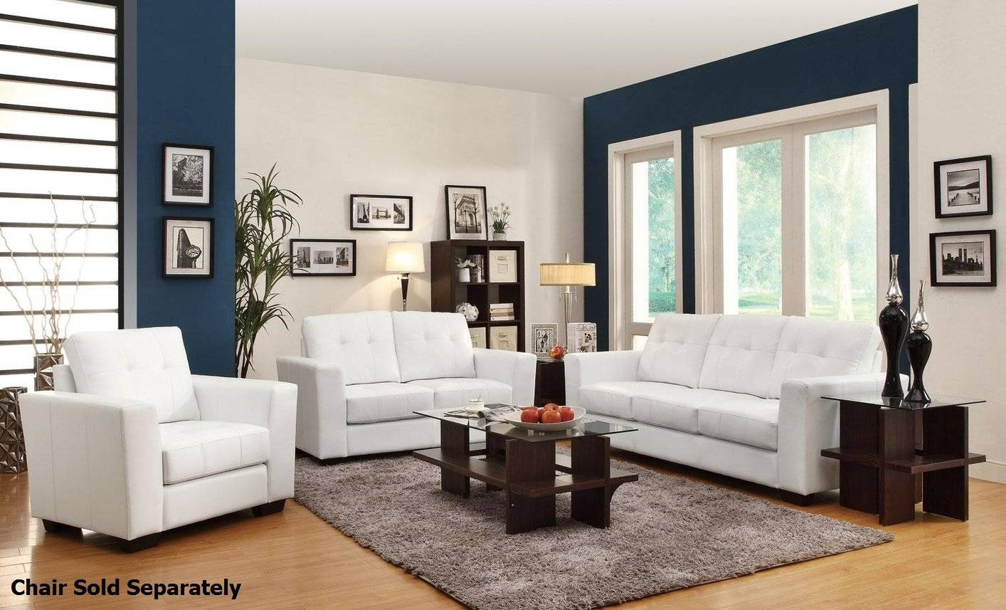 White Leather Couches. White Leather Sofas. Quality Bonded Leather with Off White Leather Sofa And Loveseat (Image 27 of 30)