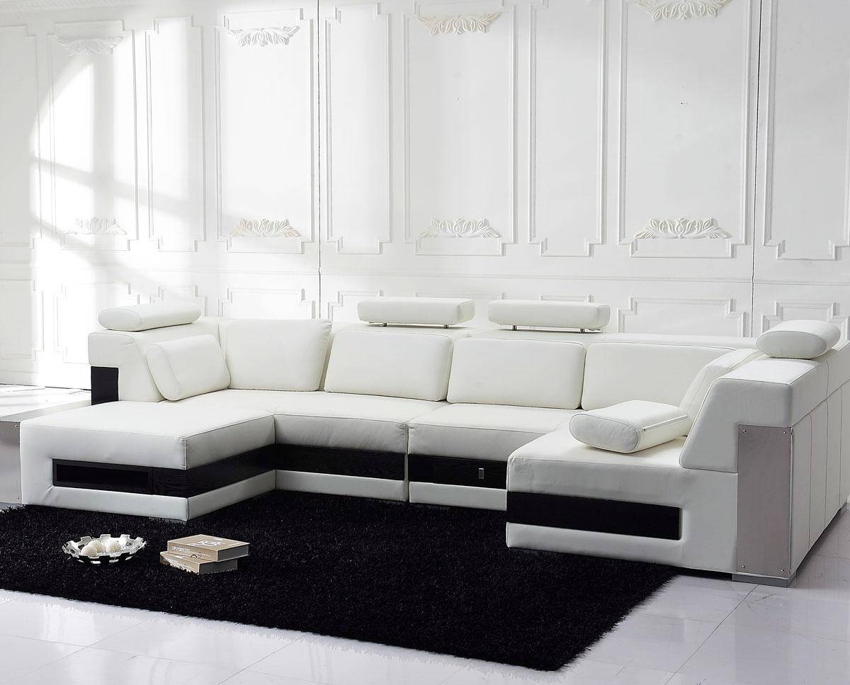 White Leather Sectional For Elegant Room - S3Net - Sectional Sofas regarding White Sectional Sofa for Sale (Image 28 of 30)