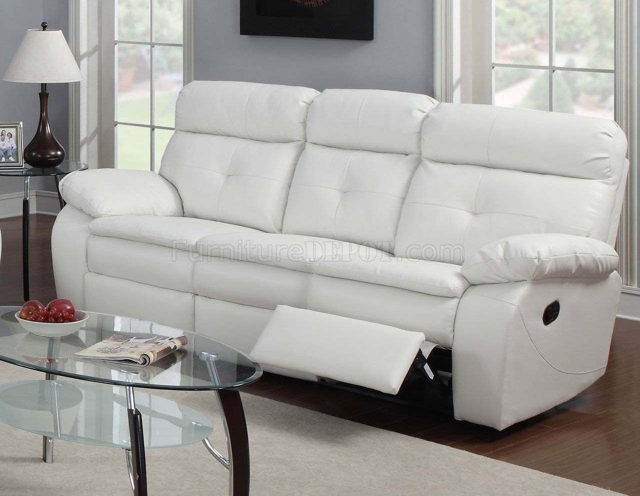 White Leather Sectional Recliner intended for Off White Leather Sofa and Loveseat (Image 29 of 30)
