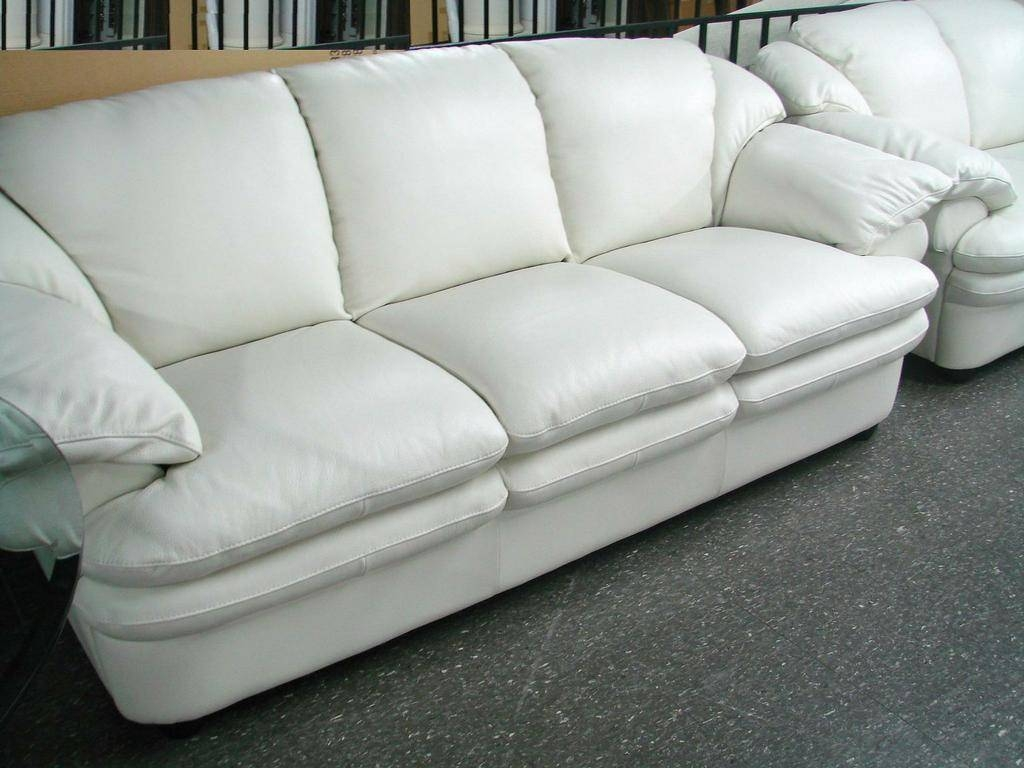 White Leather Sofa For The Luxurious Sofa - Home Design And Decors intended for Leather Sofa Sectionals for Sale (Image 26 of 30)