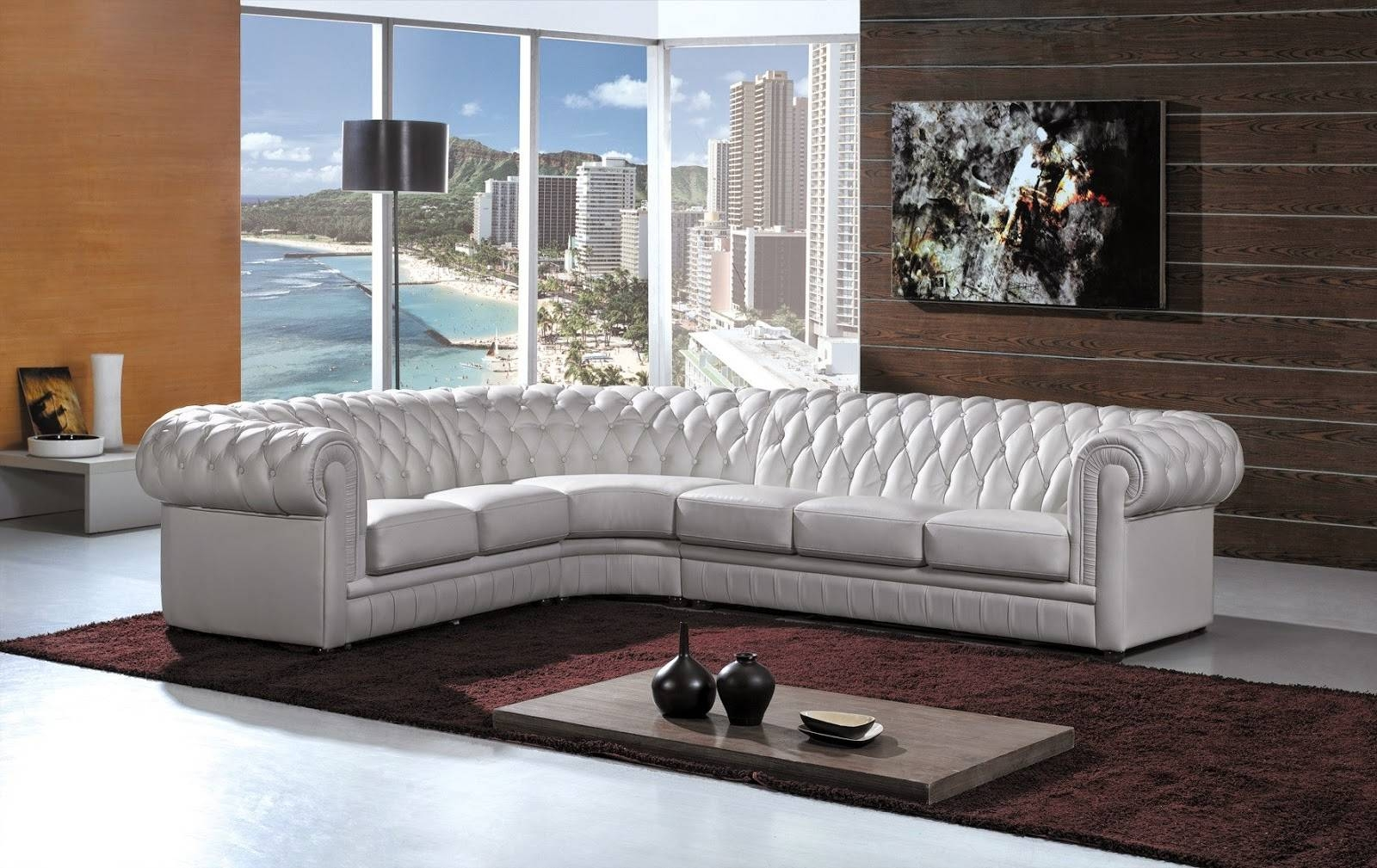 White Leather Sofa in White Leather Corner Sofa (Image 29 of 30)