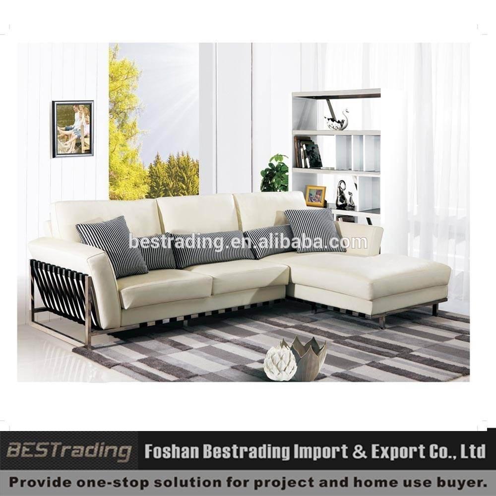 White Leather Sofa,stainless Steel Metal Legs Sofa,sofa Set within White Leather Sofas (Image 27 of 30)