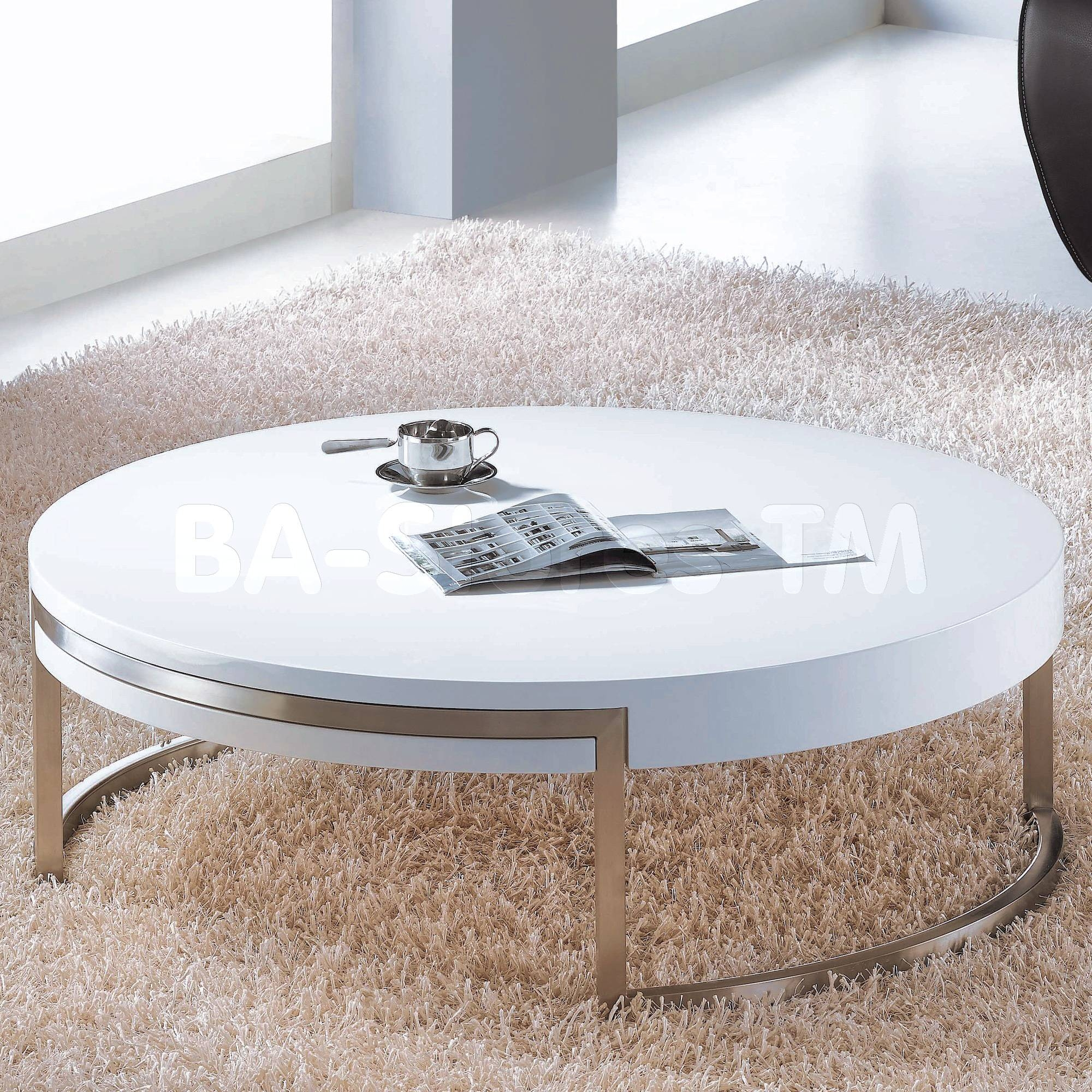 White Line Imports - Coffee, Side & End Tables | Modern Bedroom intended for White Circle Coffee Tables (Image 27 of 30)
