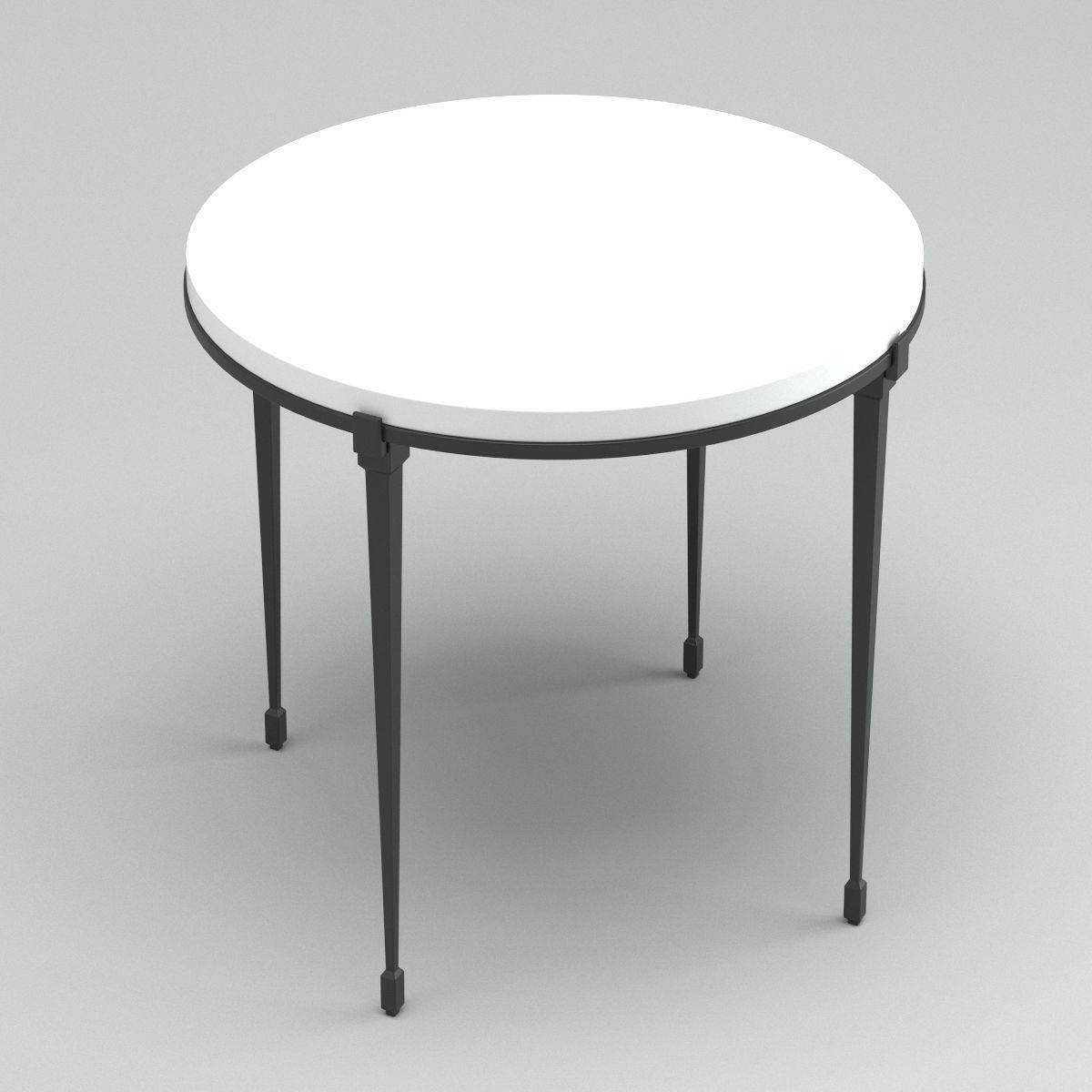 White Metal Circle Coffee Table 3D Model Max Obj Fbx Mtl for Circle Coffee Tables (Image 30 of 30)