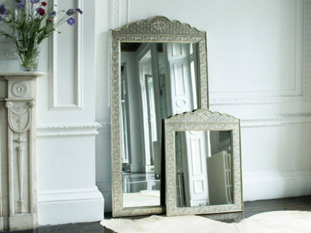 White Metal Mirror, Standing Mirror Jewelry Storage Stand Mirror within White Metal Mirrors (Image 24 of 25)