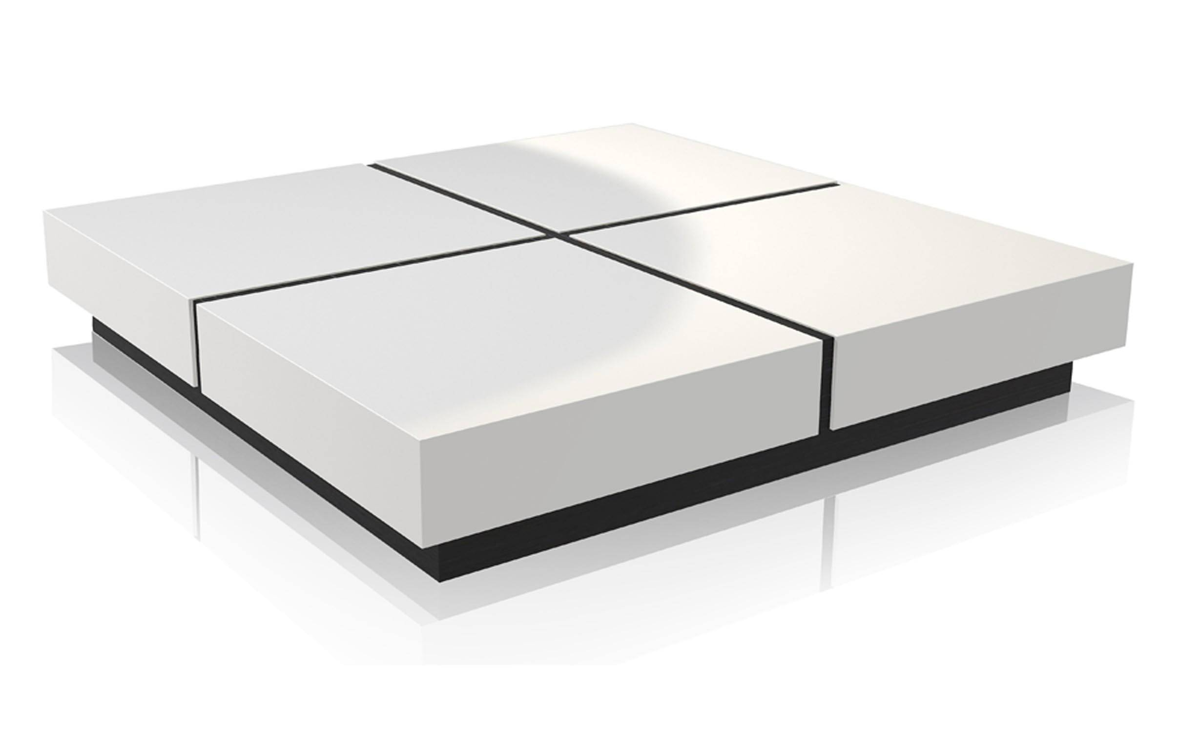 White Modern Coffee Table | Coffee Table Design Ideas in White And Glass Coffee Tables (Image 30 of 30)