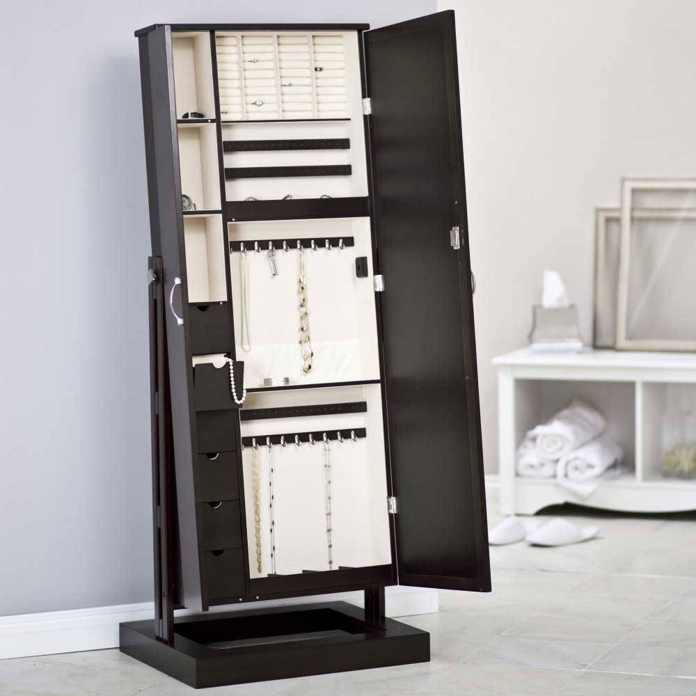White Modern Jewelry Armoire Cheval Mirror : Furniture Decor Trend Throughout Modern Cheval Mirrors (View 22 of 25)