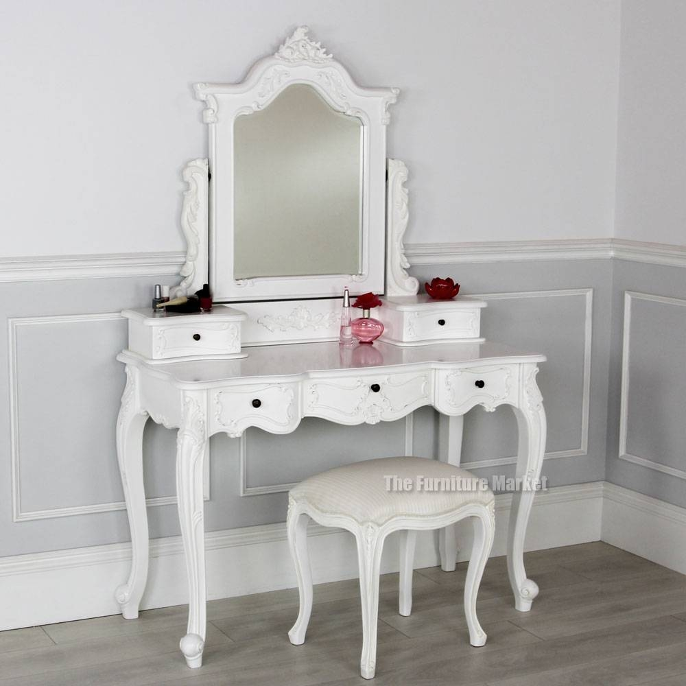 White Painted Dressing Table Mirror Archives - The Furniture within French Style Dressing Table Mirrors (Image 25 of 25)