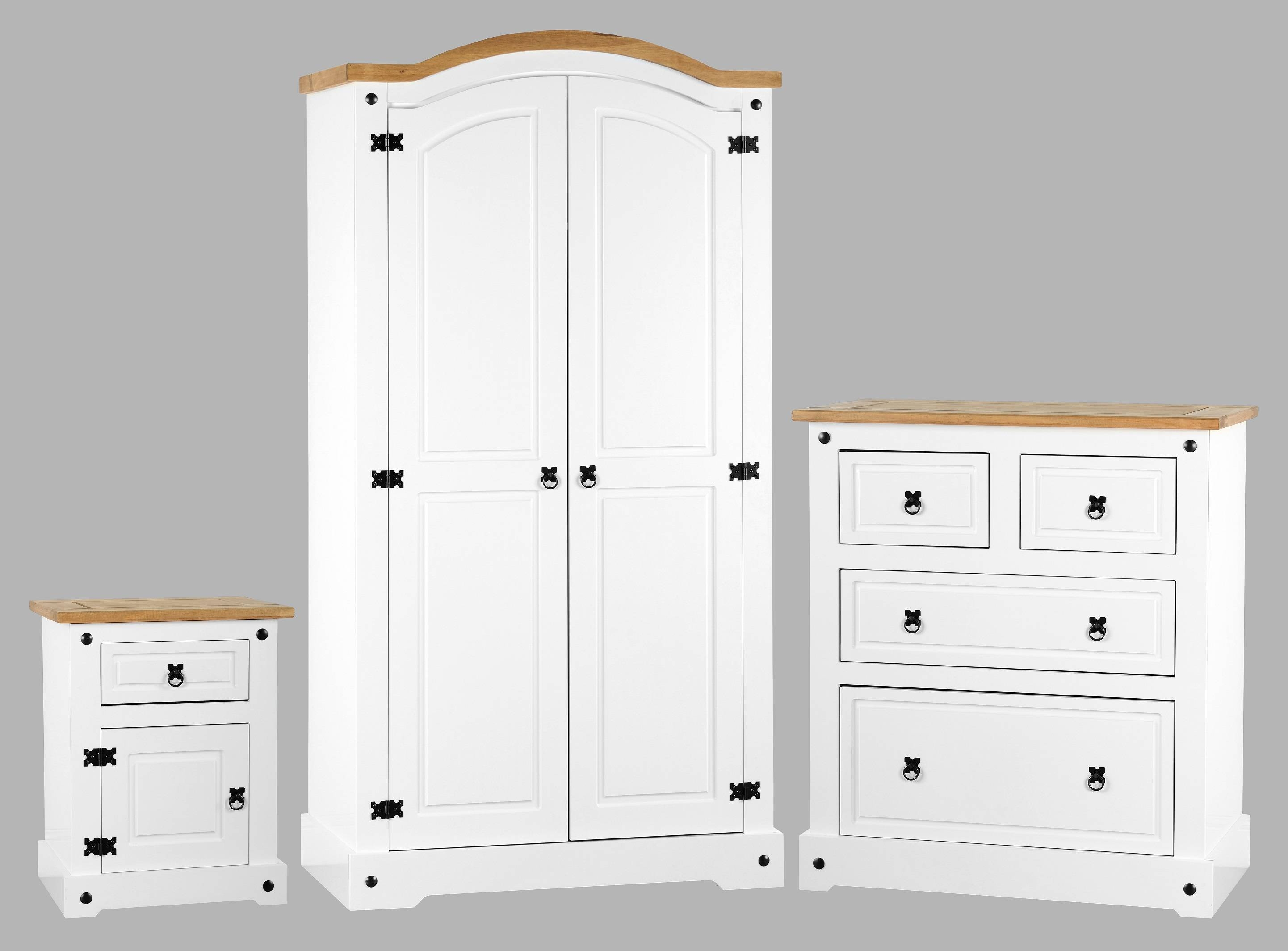 White Pine Bedroom Furniture Off White Bedroom Ideas With Pine inside White Pine Wardrobes (Image 15 of 15)