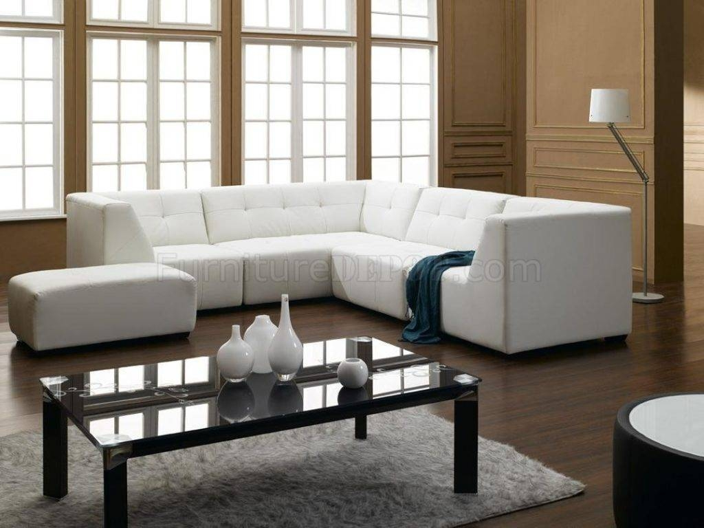 White Sectional Sofa Decorating Ideas | Eva Furniture regarding Decorating With A Sectional Sofa (Image 29 of 30)