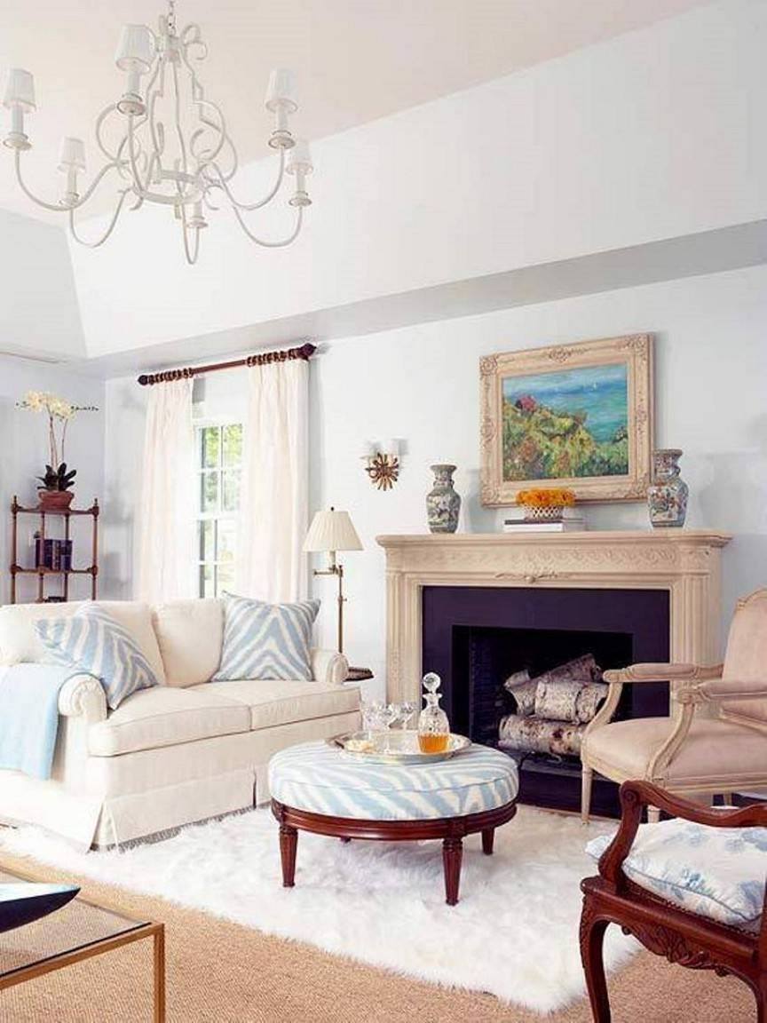 White Shabby Chic Living Room Furniture Intended For Animal Print Ottoman Coffee Tables (View 18 of 30)