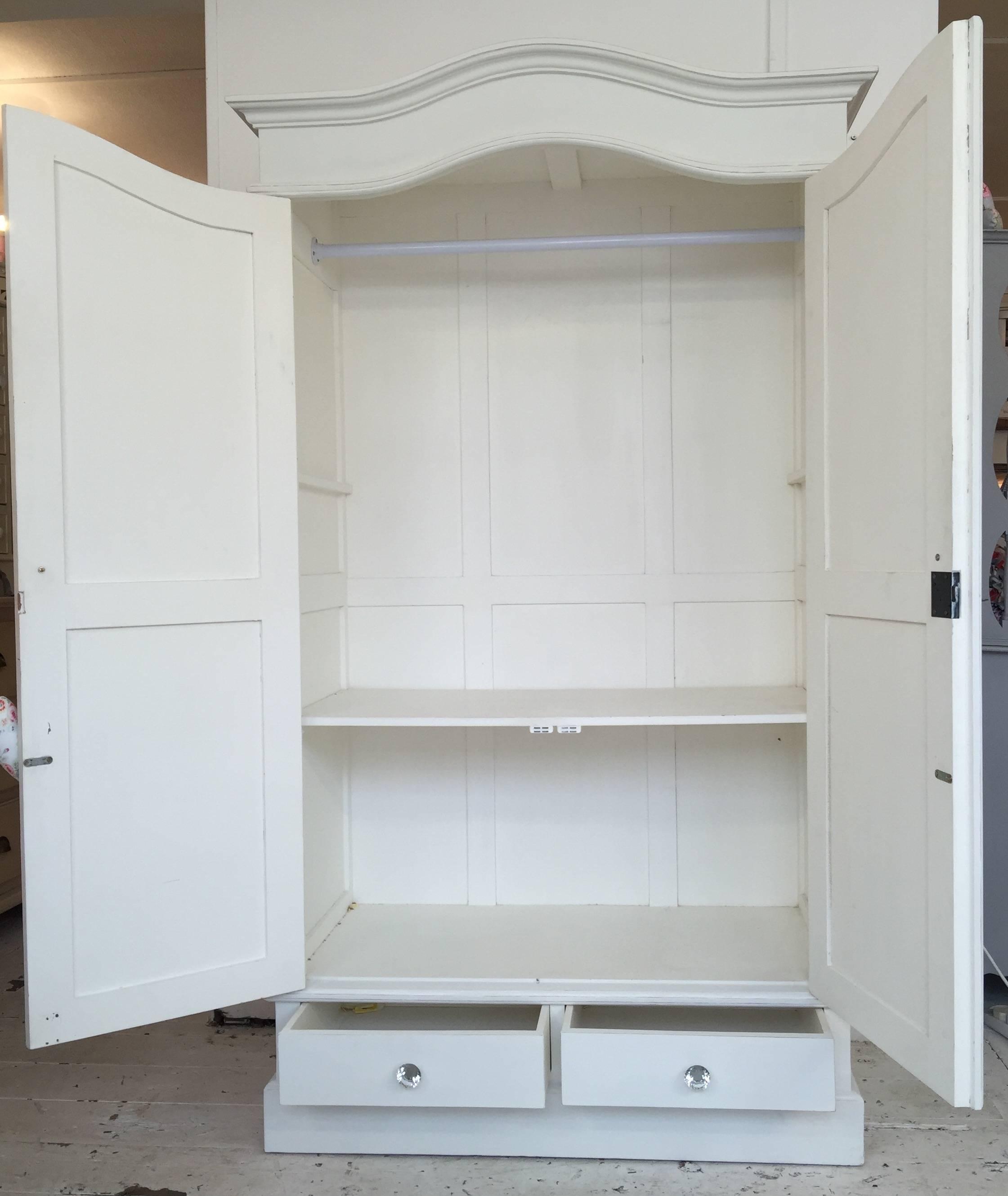best 15 of white shabby chic wardrobes. Black Bedroom Furniture Sets. Home Design Ideas