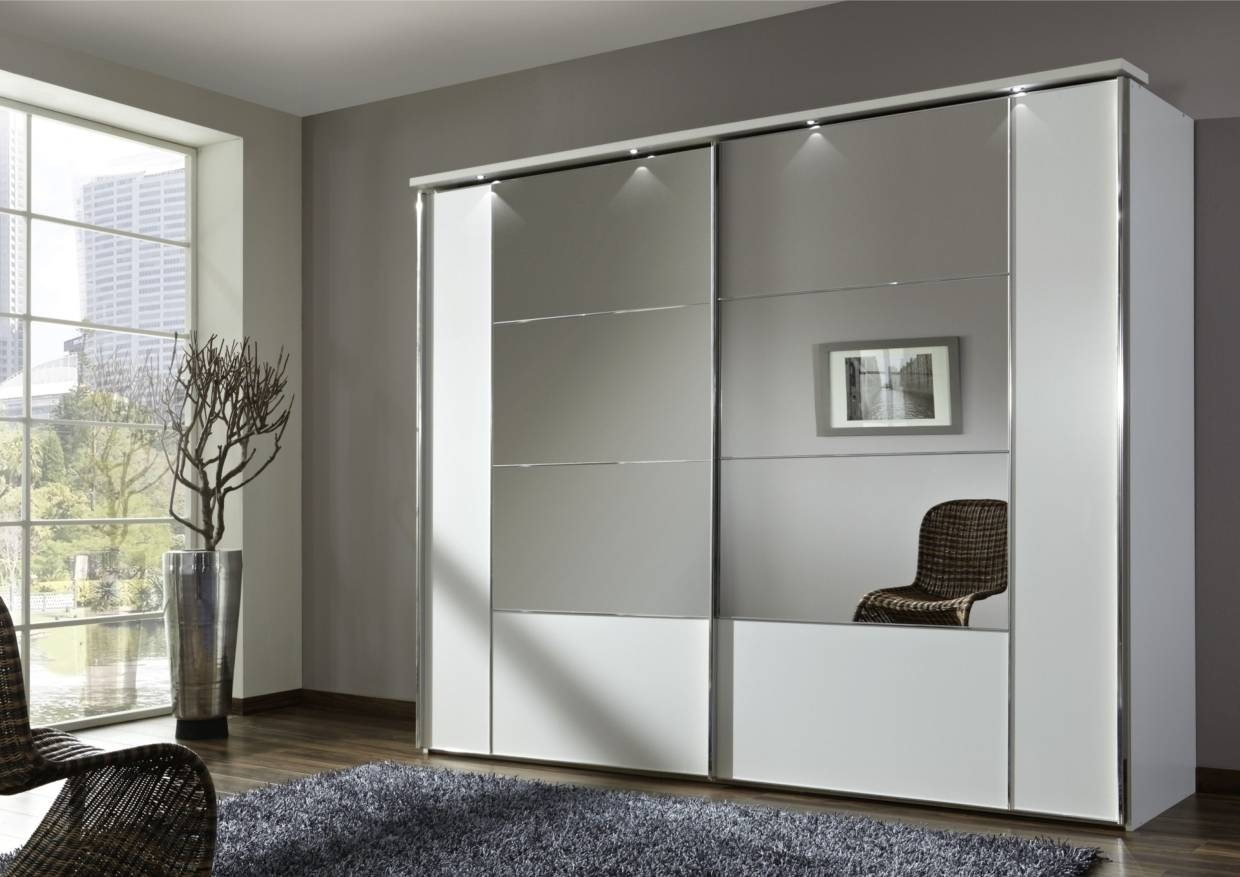 White Sliding Door Wardrobe With Mirror - Saudireiki in White Mirrored Wardrobes (Image 15 of 15)
