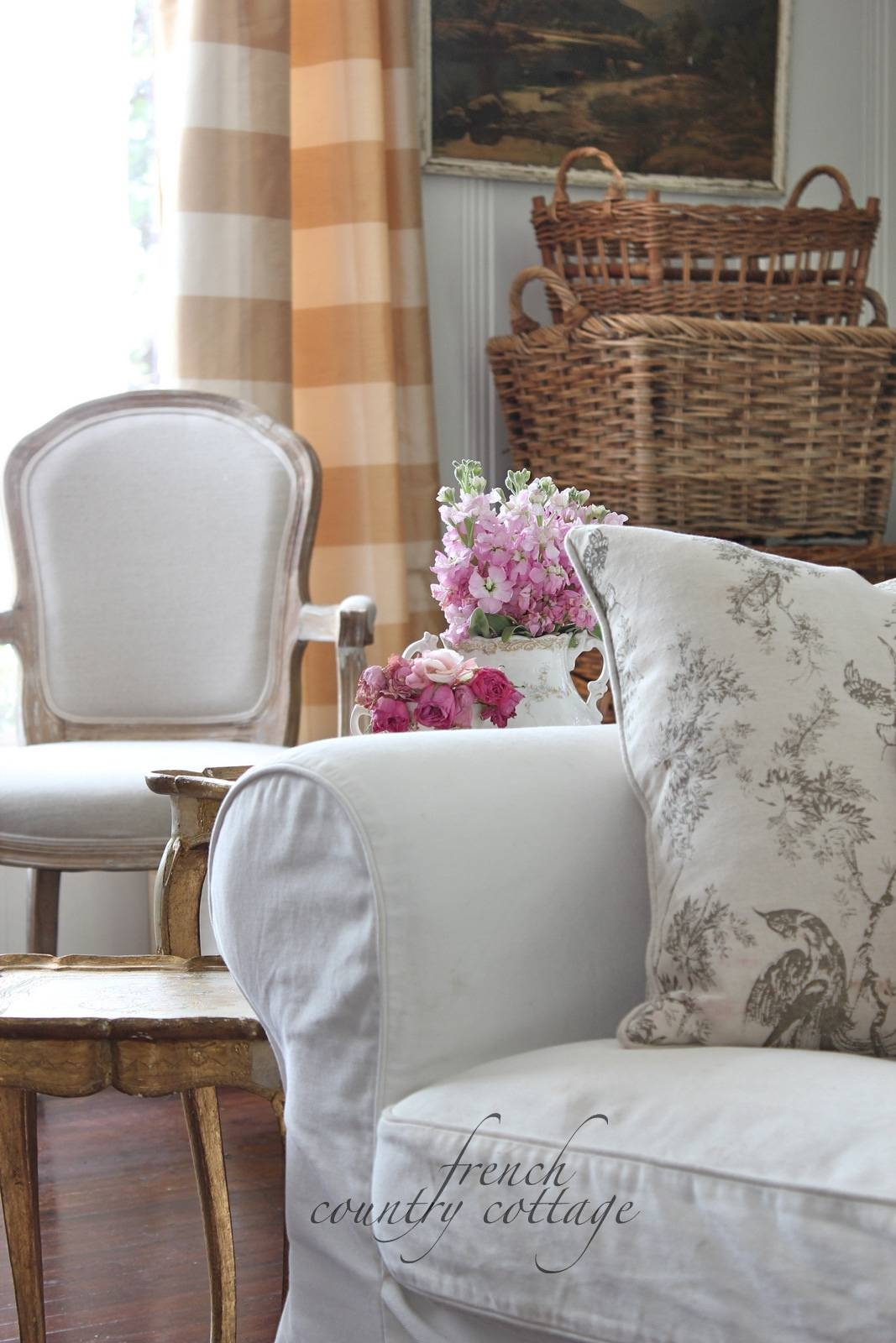 White Slipcovers – French Country Cottage With Country Cottage Sofas And Chairs (View 30 of 30)