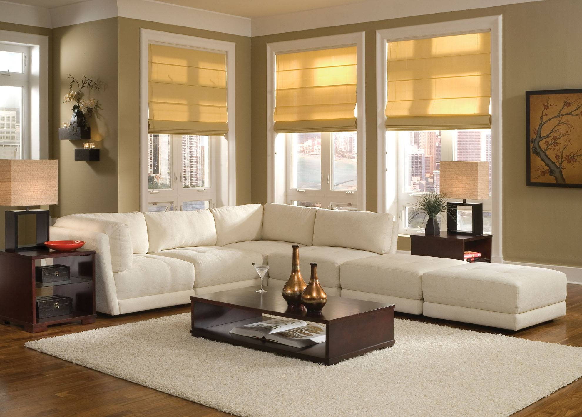 White Sofa Design Ideas & Pictures For Living Room within Decorating With A Sectional Sofa (Image 30 of 30)