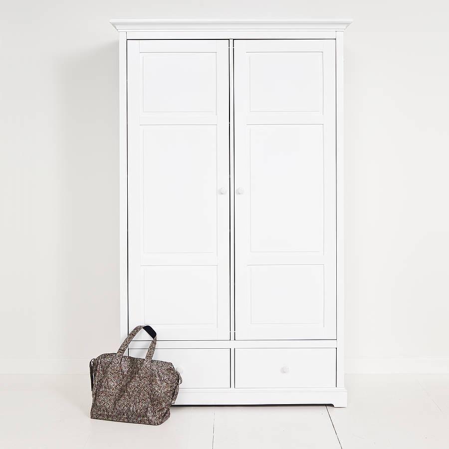 White Two Door Wardrobenubie Modern Kids Boutique inside Two Door White Wardrobes (Image 15 of 15)