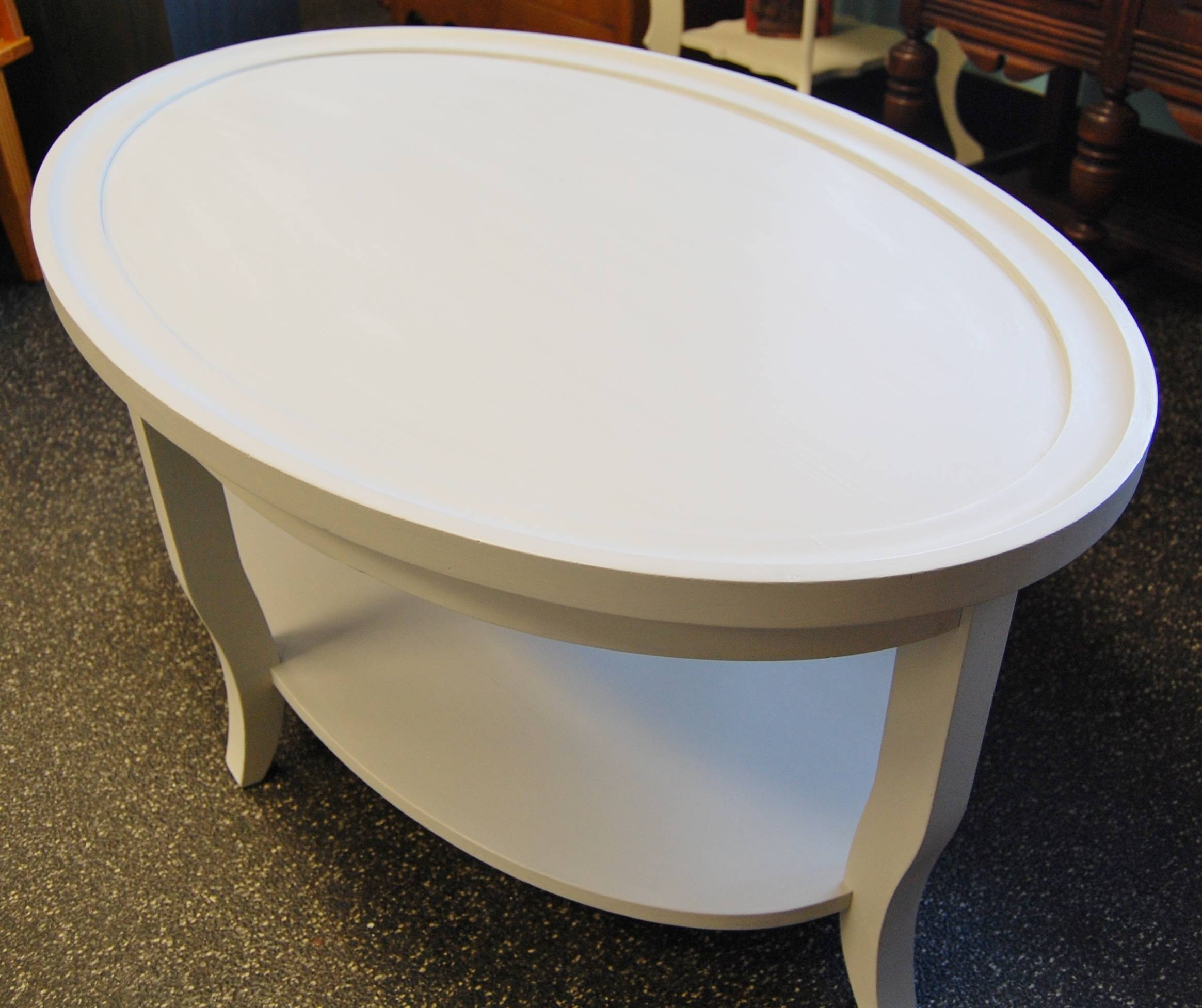White Two Tier Oval Coffee Table · Marinus Home · Online Store in White Oval Coffee Tables (Image 30 of 30)