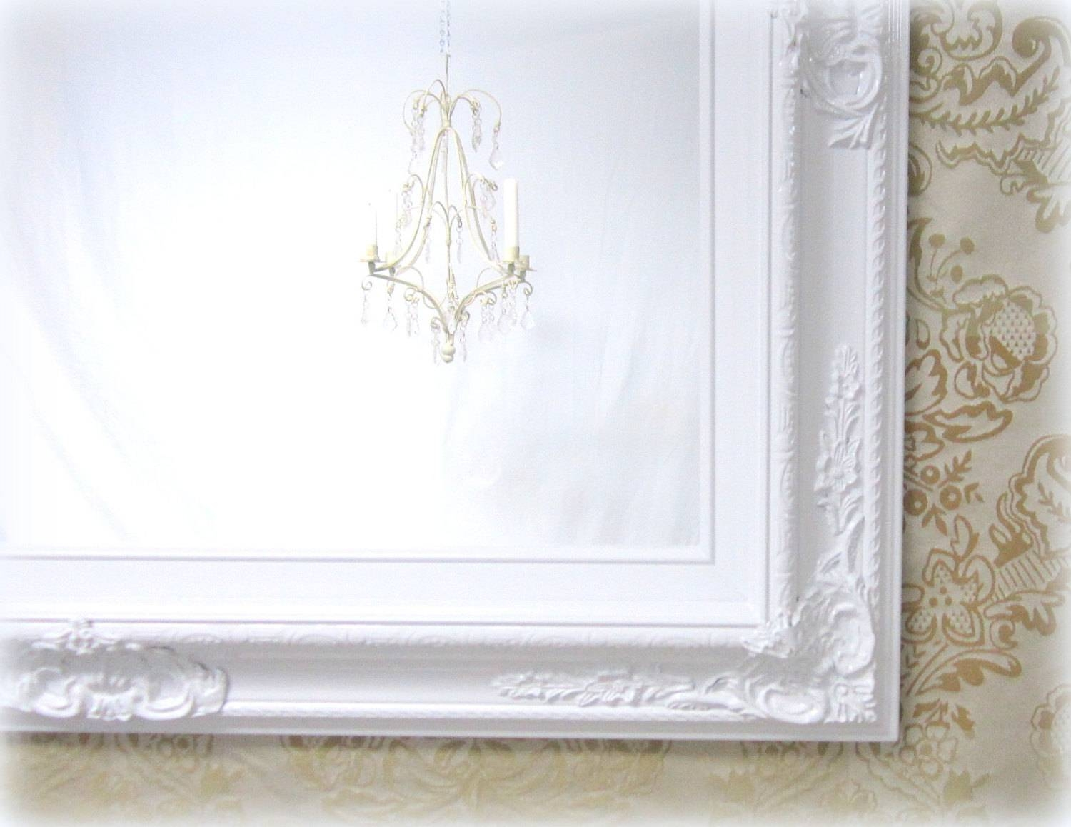 White Vanity Mirror For Sale Baroque Framed White Framed with regard to White Baroque Mirrors (Image 25 of 25)