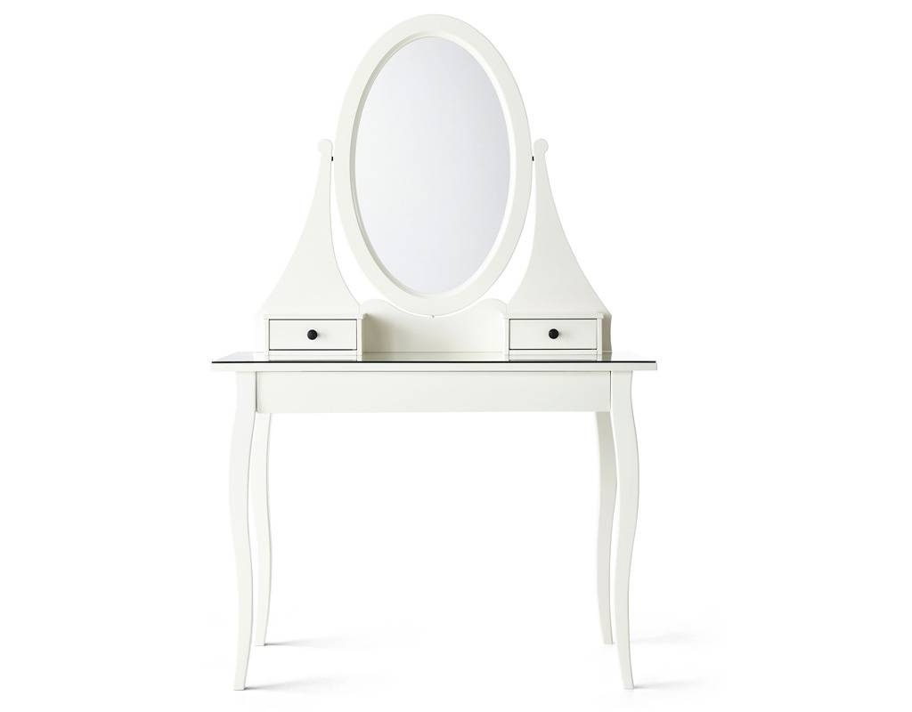 White Vanity Tables With Mirror And Bench | Creative Vanity Decoration with regard to Small Table Mirrors (Image 24 of 25)