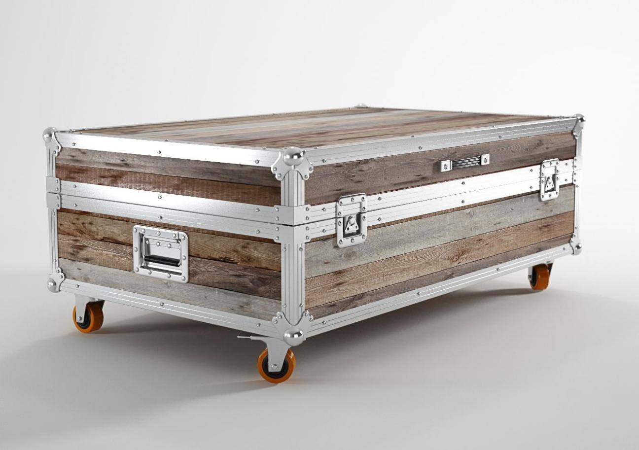 White Vintage Trunk Coffee Table — Coffee Table's Zone : Decorate regarding Trunk Coffee Tables (Image 30 of 30)