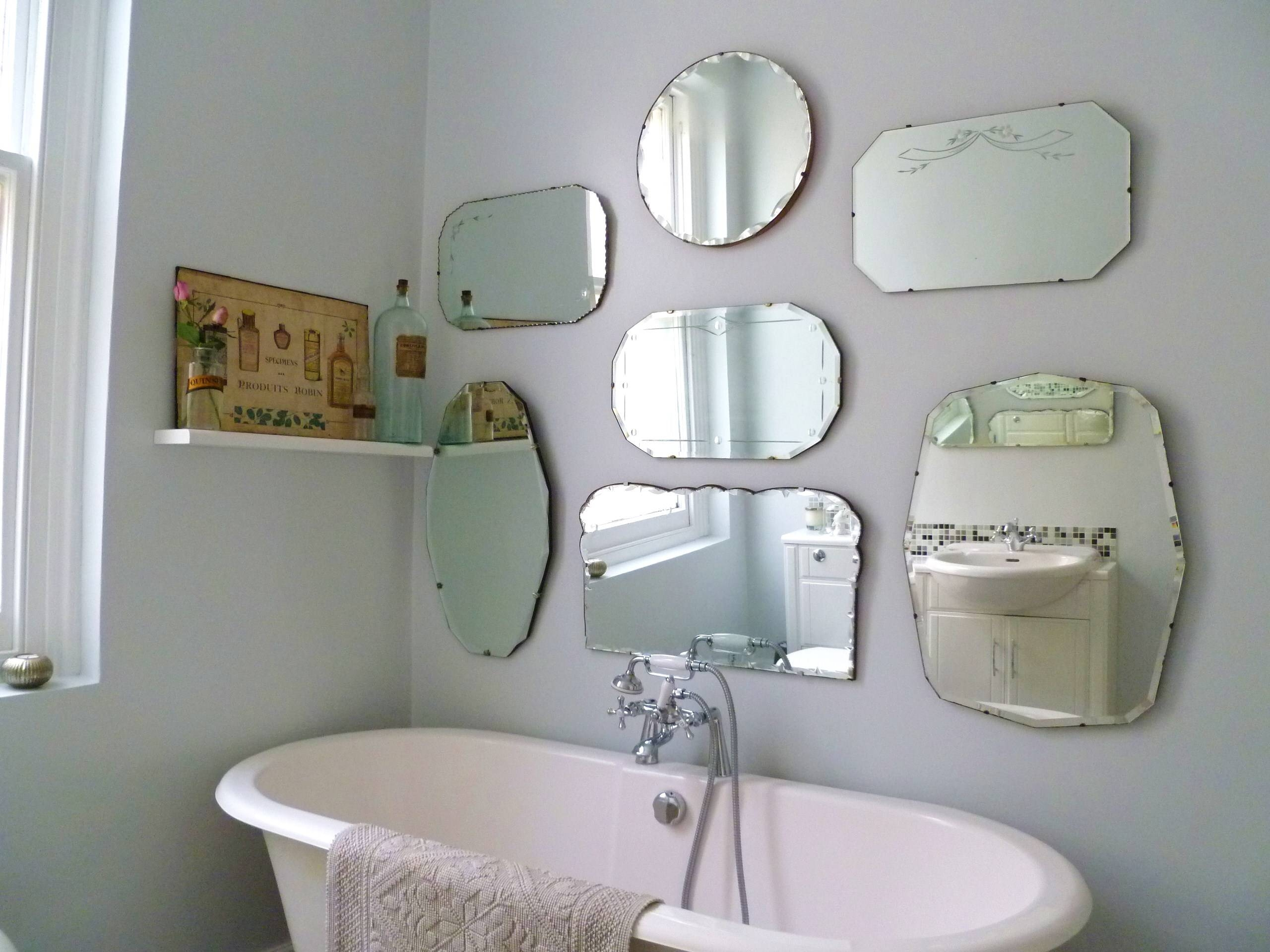 White Vintage Wall Mirrors : Doherty House - A Beautiful Of in White Antique Mirrors (Image 25 of 25)