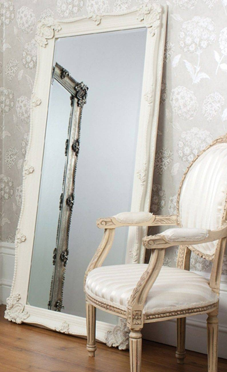 White Wall Mirror. . Image Of Brighton Wall Mirror In Pewter in Big White Mirrors (Image 25 of 25)