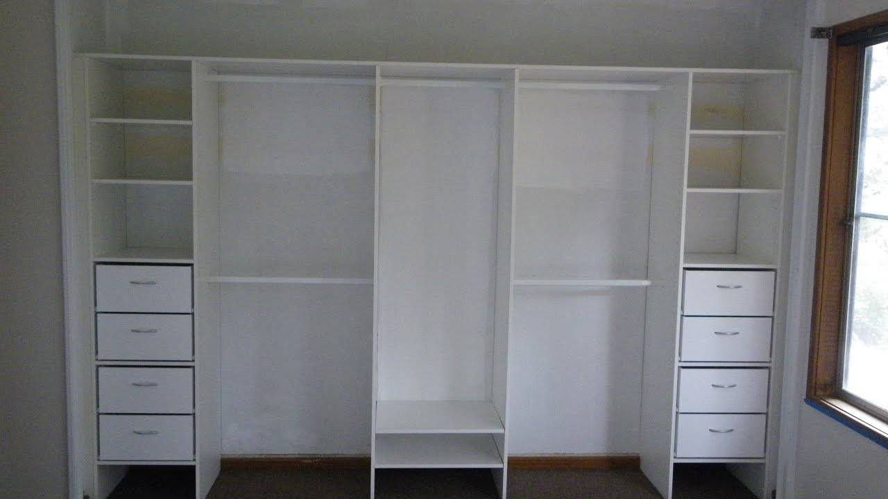 White Wardrobe With Drawers And Shelves - Youtube throughout Double Wardrobe With Drawers And Shelves (Image 29 of 30)