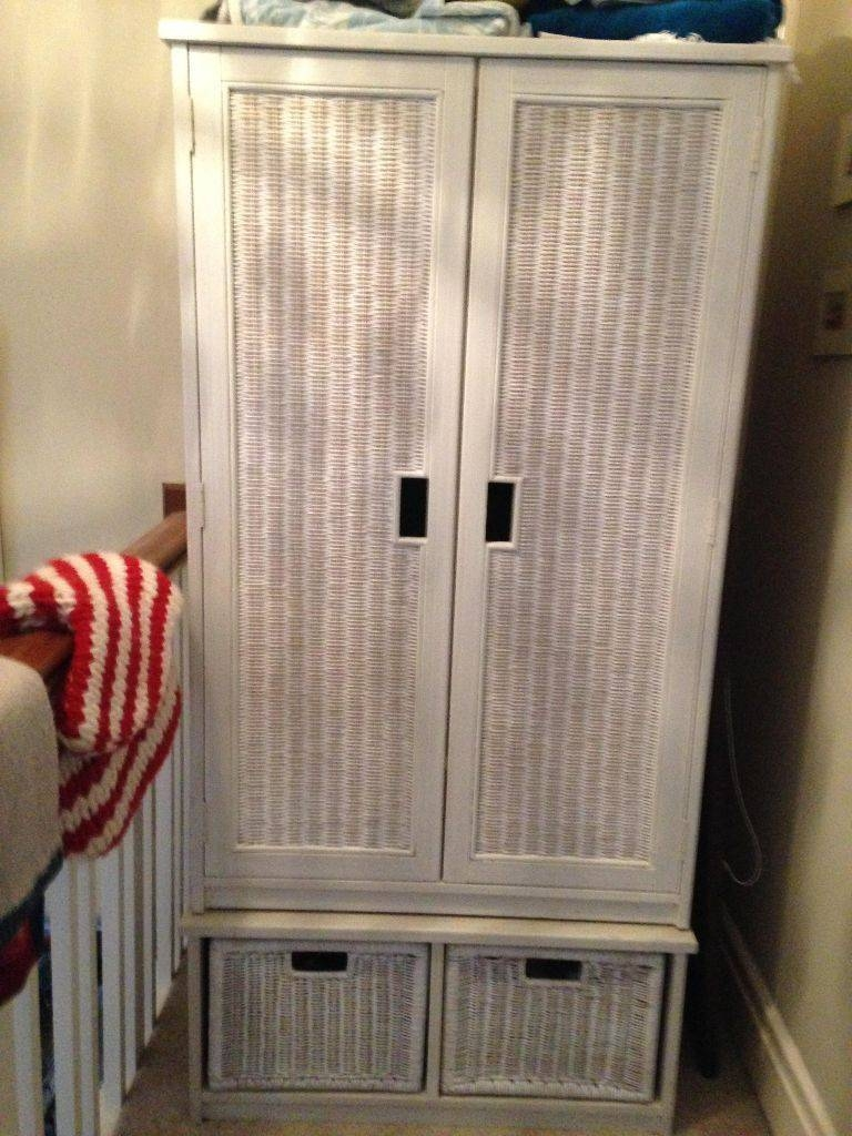 White Wicker Wardrobe | In Southport, Merseyside | Gumtree within White Wicker Wardrobes (Image 15 of 15)