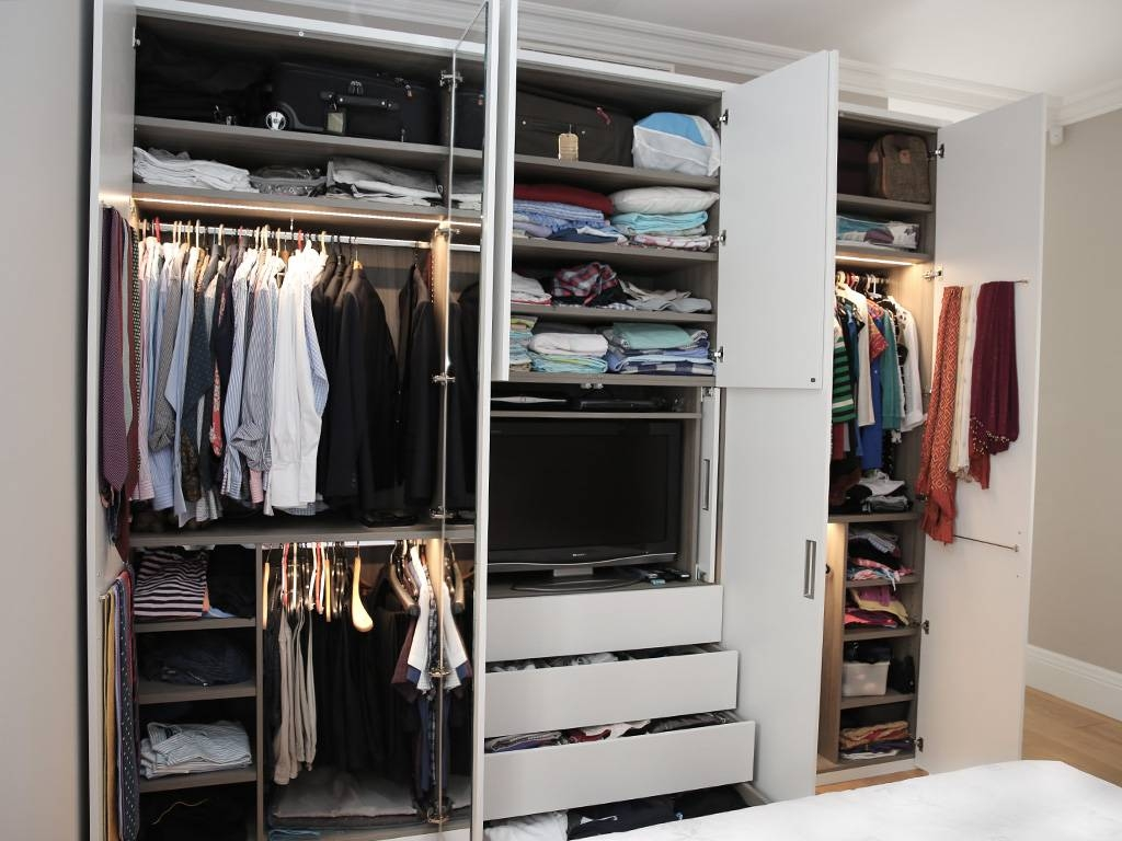 White Wood Contemporary Fitted Wardrobe | Bespoke Furniture throughout Fitted Wooden Wardrobes (Image 30 of 30)
