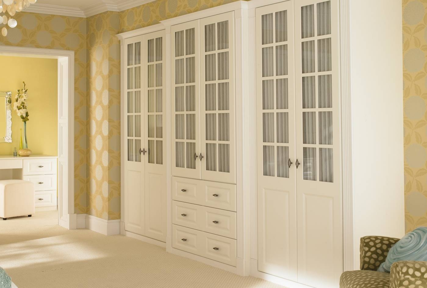 White Wood Wardrobe, Breathtaking Furniture Bedroom Traditional inside French Style Fitted Wardrobes (Image 15 of 15)