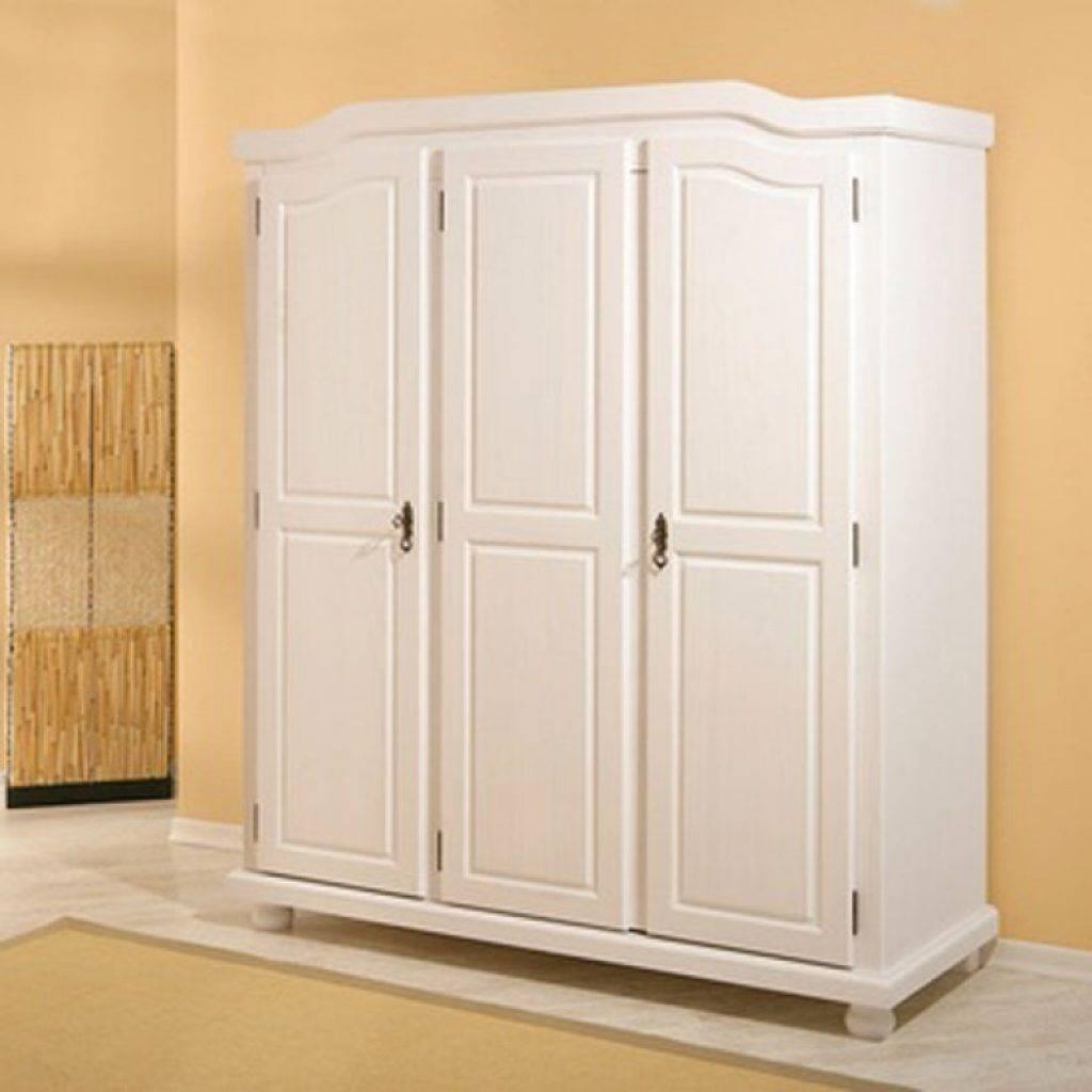 White Wooden Wardrobes Bastian Wooden Wardrobe In White Painted inside White Wooden Wardrobes (Image 15 of 15)