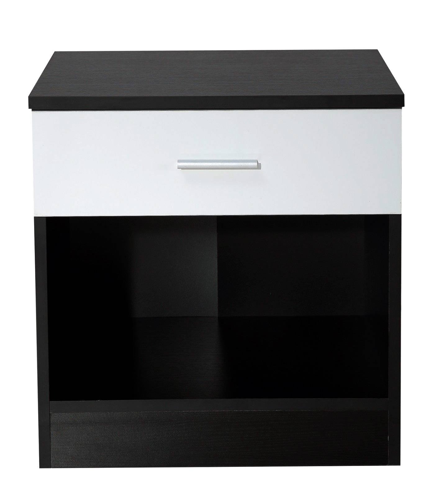 White/black High Gloss Trio 3 Piece Bedroom Furniture Set-Wardrobe regarding Black High Gloss Wardrobes (Image 15 of 15)