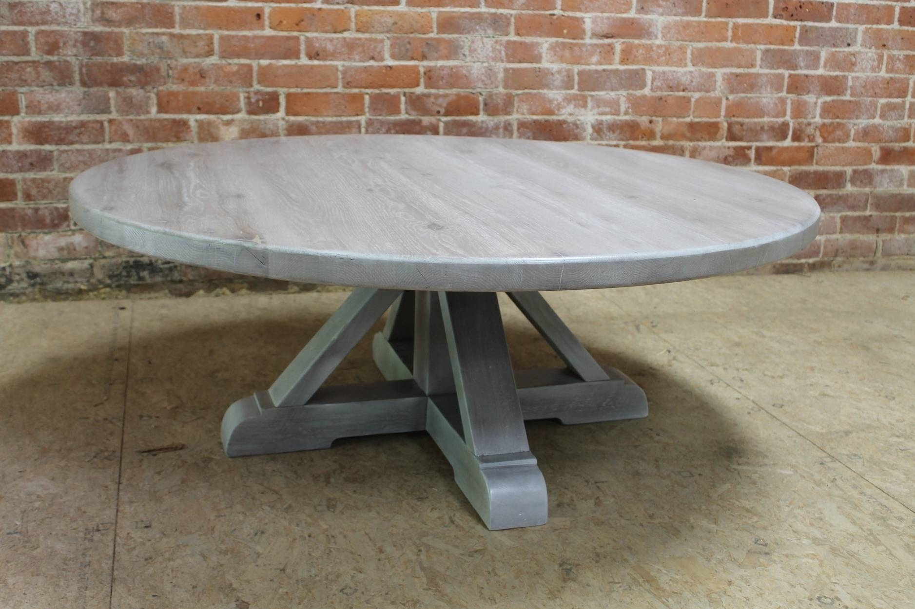 White washed wood coffee table