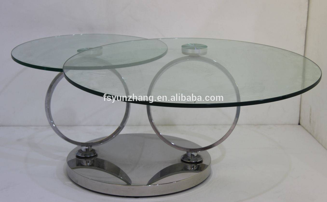 Wholesale Skinny Rotating Glass Coffee Table With Stools - Alibaba intended for Revolving Glass Coffee Tables (Image 30 of 30)