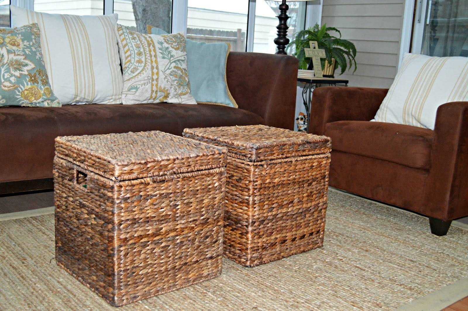 Wicker Chest Coffee Table | Coffee Tables Decoration for Coffee Table With Wicker Basket Storage (Image 26 of 30)