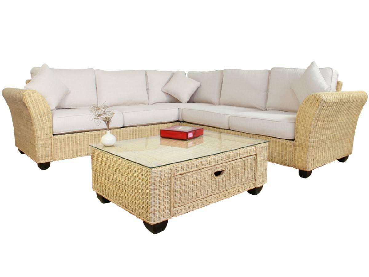 Wicker Rattan Corner Sofa With Regard To Corner Sofa Chairs (View 30 of 30)