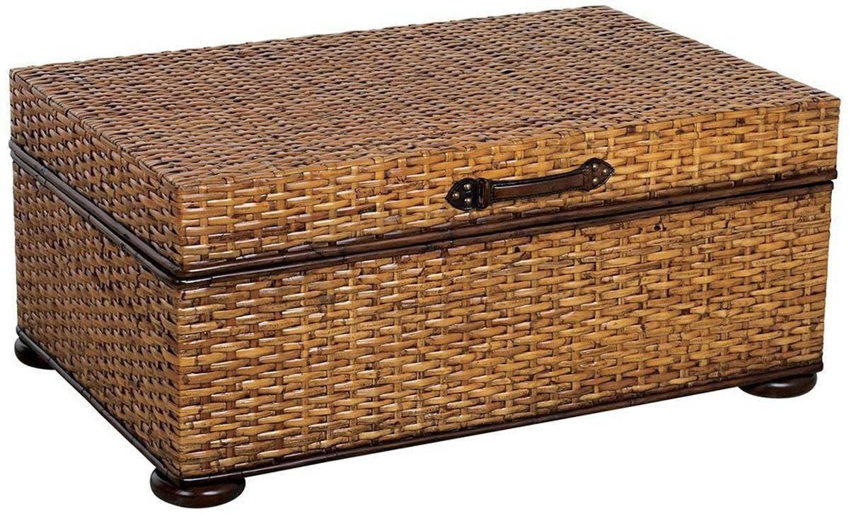 Wicker Trunk From Williams Sonoma Baskets Pinterest Details About With Regard To Coffee Table With Wicker Basket Storage (View 16 of 30)
