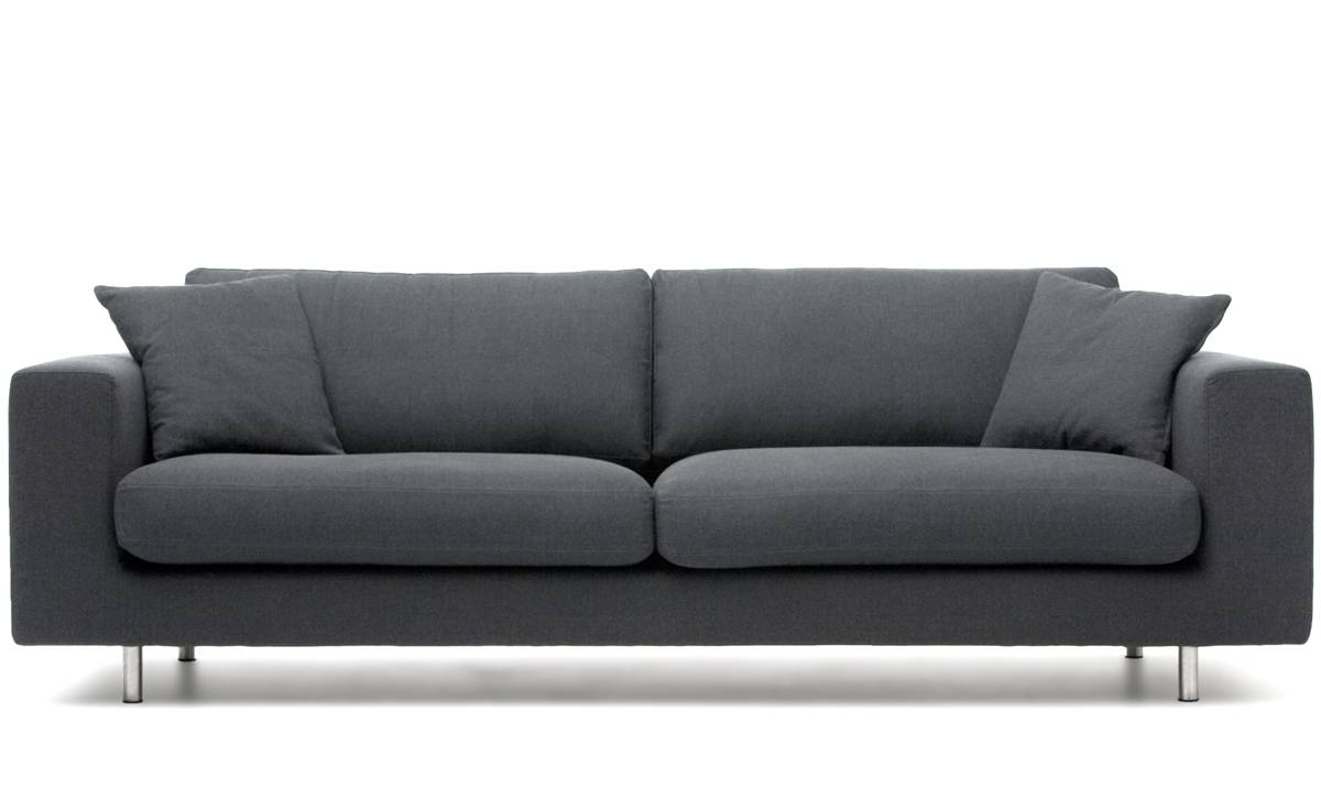 Wide Arm 3 Seat Sofa – Hivemodern With Modern 3 Seater Sofas (View 8 of 30)