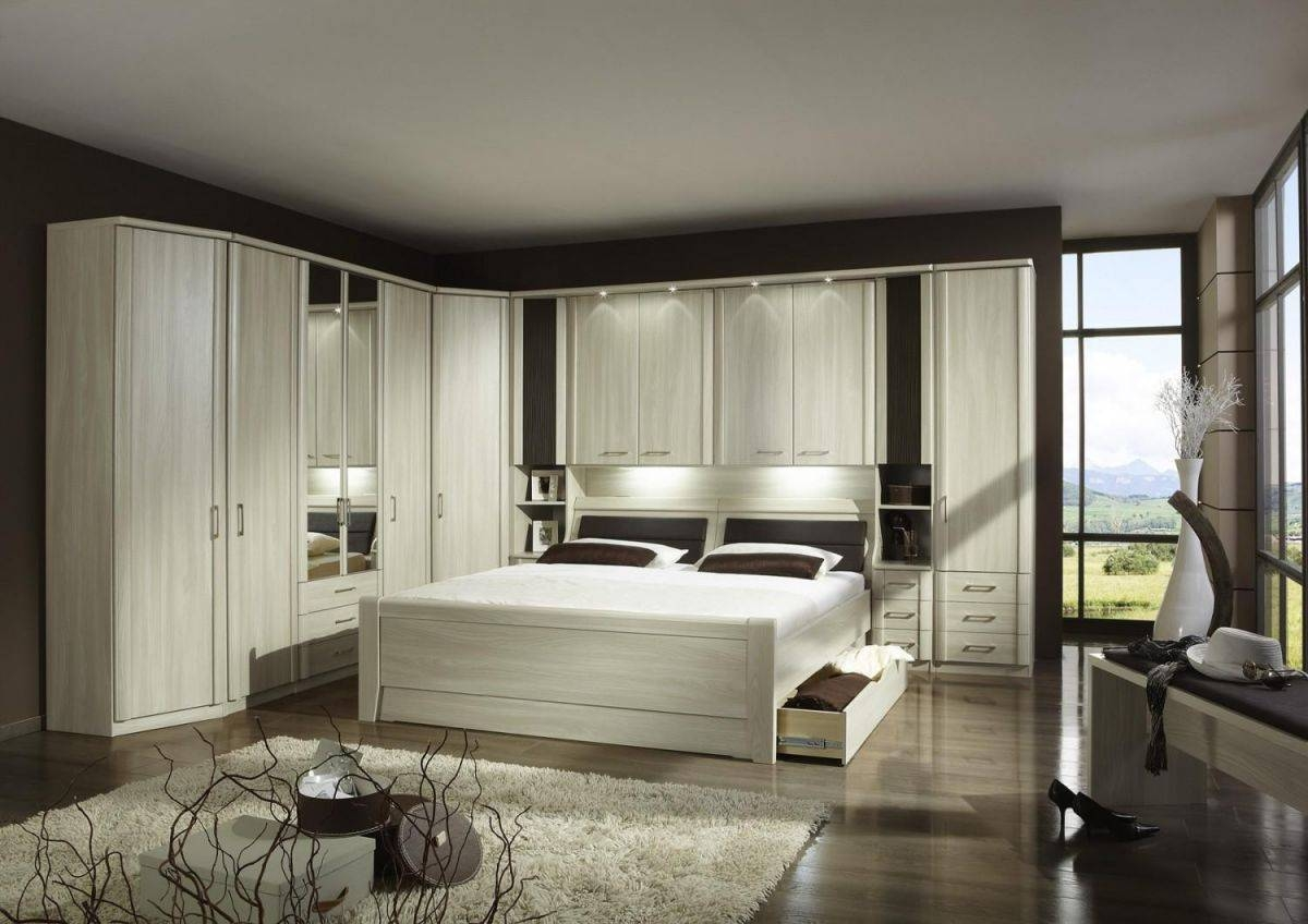 Wiemann Luxor 4 Overbed Unit With 33Cm Straight Doors And Drawers With Regard To Over Bed Wardrobes Units (View 15 of 15)