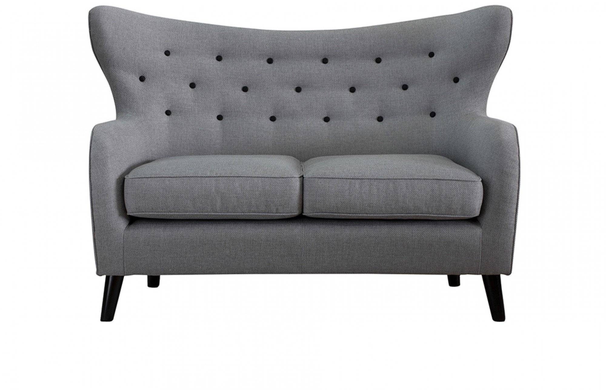 Wilfred Two Seater Sofa In Stone Grey - Out And Out Original throughout Two Seater Chairs (Image 28 of 30)