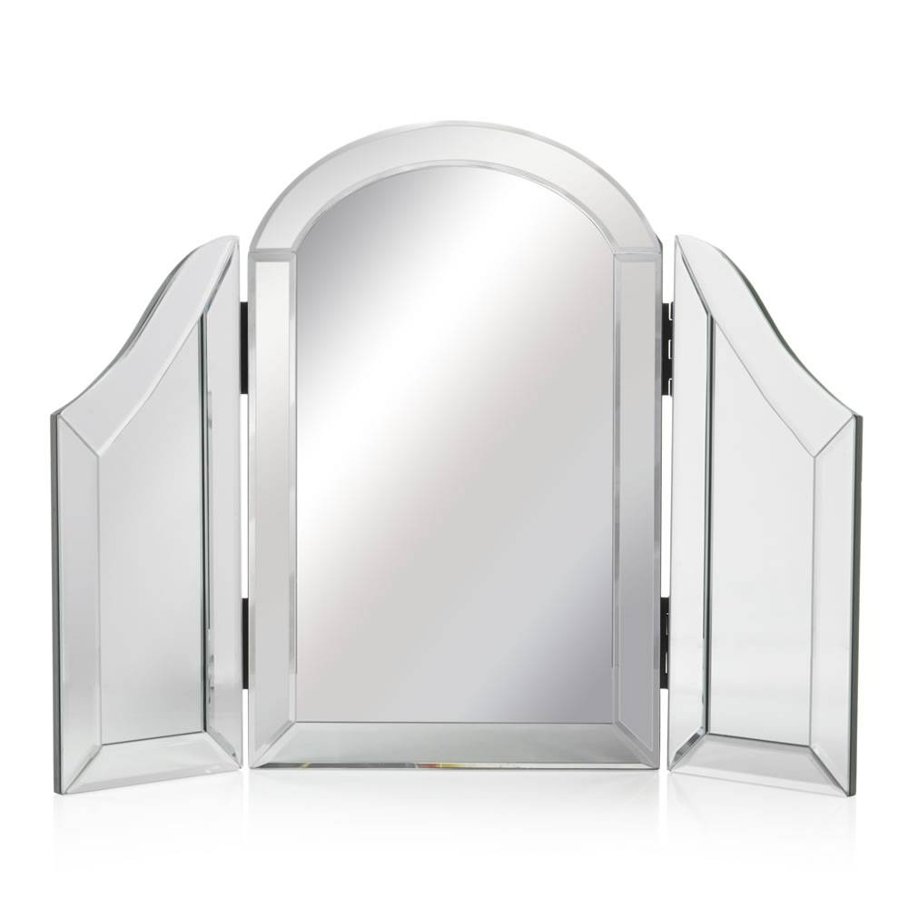 Wilko All Glass Dressing Table Mirror 43.5 X 56.5Cm At Wilko for Dressing Table Mirrors (Image 25 of 25)