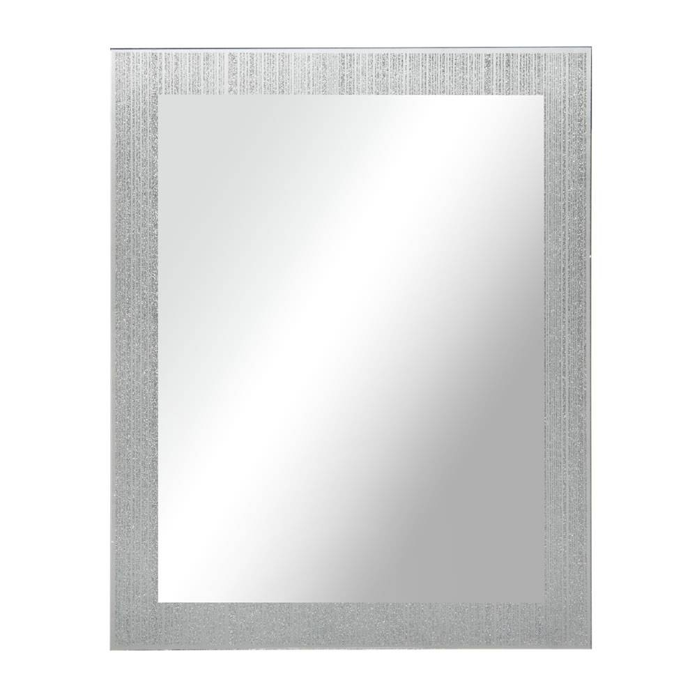 Wilko Glitter Mirror 40 X 50Cm At Wilko with regard to Silver Glitter Mirrors (Image 25 of 25)