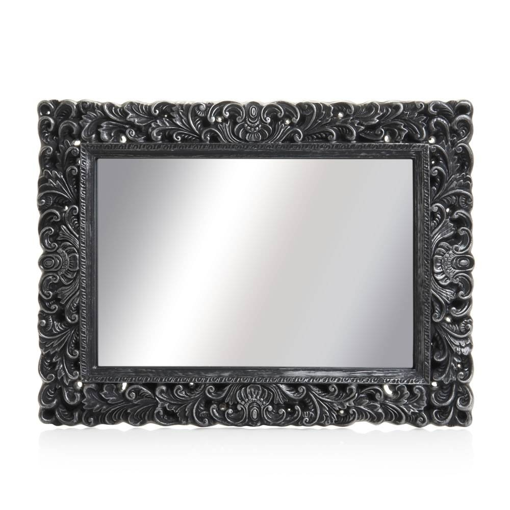 Wilko Ornate Mirror Large Black 60 X 80Cm At Wilko Inside Large Ornate Mirrors (View 25 of 25)