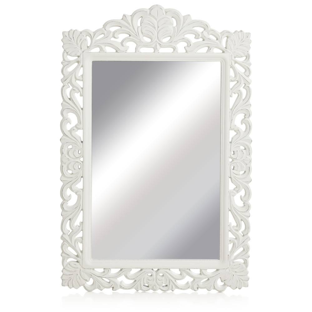 Wilko Vintage Ornate Mirror Large 56.5 X 84.5Cm At Wilko with White Ornate Mirrors (Image 25 of 25)