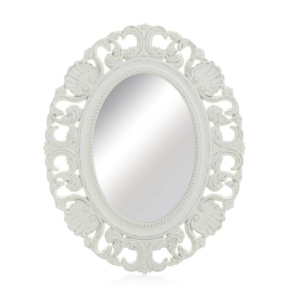 Wilko Vintage Ornate Oval Mirror 44 X 54Cm At Wilko with regard to Ornate Oval Mirrors (Image 25 of 25)