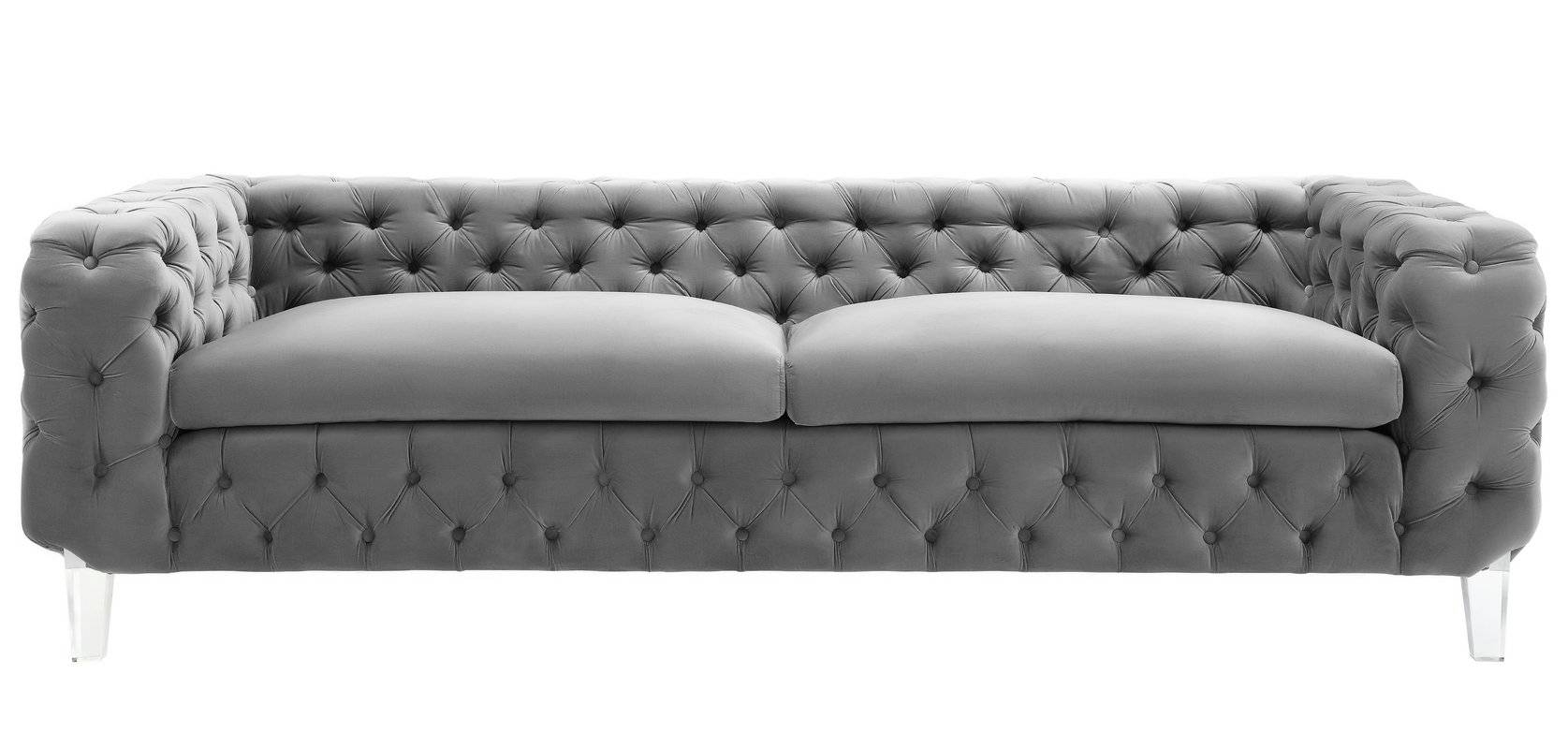 Willa Arlo Interiors Cecília Velvet Upholstery Chesterfield Sofa inside Chesterfield Furniture (Image 28 of 30)